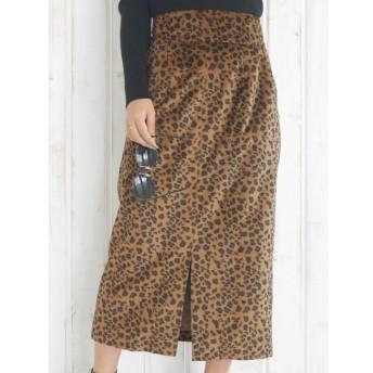 【リゼクシー/RESEXXY】 フェイクスエードロングタイトスカート