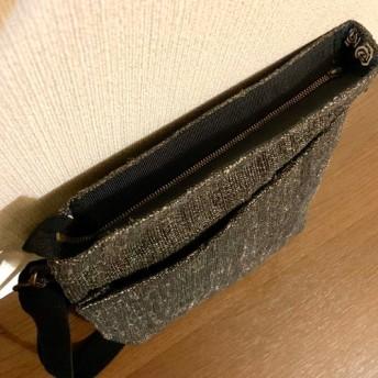 【裂織ショルダーバッグ】シンプルなブラック