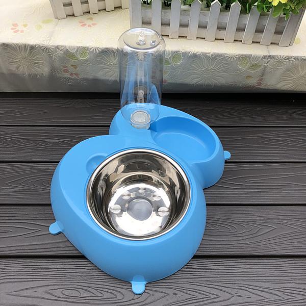 狗碗不銹鋼雙碗貓碗狗盆貓自動飲水器喂食寵物飯碗狗盤食盆 泰迪 夏季特惠