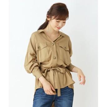 SHOO・LA・RUE/Cutie Blonde(シューラルー) サシュベルト付き Wポケワークシャツ