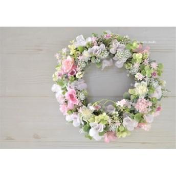春霞 桜と小花のリース:ピンク さくら