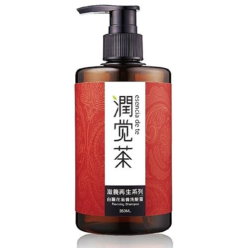 【茶寶 潤覺茶】白薑花滋養茶籽洗髮露 350ml-波比元氣