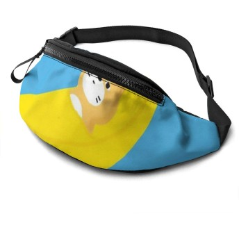 柴犬 バナナ ウエストバッグ ランニングバッグ ウエストポーチ ボディバッグ ヒップバッグ 大容量 多機能 耐摩擦 軽量 収納 アウトドア 釣り バイク 旅行 仕事 作業用 登山 遠足 旅行