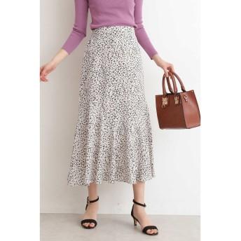 アートプリントペプラムAラインスカート オフベース1