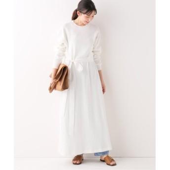 IENA 【BLUEBIRD BOULEVARD】ハニカムワッフルジャージードレス ホワイト フリー