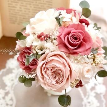 結婚祝い*プリザーブドフラワー*アンティークアレンジ*ラウンドアレンジ*母の日