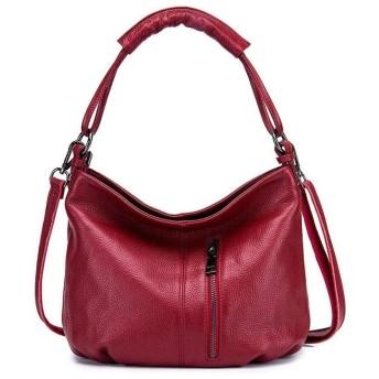 IhDFR 女性の ハンドバッグPUレザートップハンドルサッチェルトート財布ショルダーバッグメッセンジャーバッグ女性レザーレディースショルダーバッグファッショントートバッグカジュアル(カラー:ピンク) のために (Color : Red)