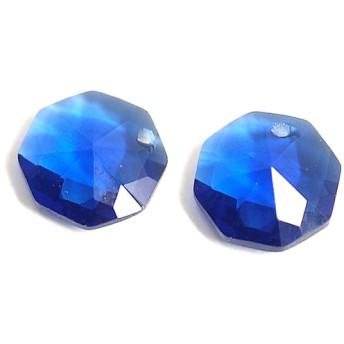 MInne限定SALE【2個入り】約10mmブルーカラーキュービック八角形ビーズ