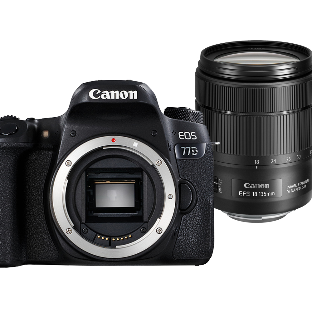 Canon EOS 77D+18-135mm IS USM 單鏡組
