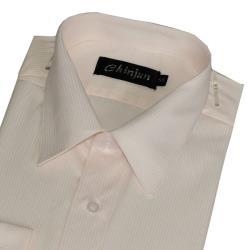 Chinjun抗皺商務襯衫,短袖,黃底黃條紋(s706)