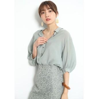 ジャスグリッティー エアリーゆるシャツ レディース ミント 2 【JUSGLITTY】