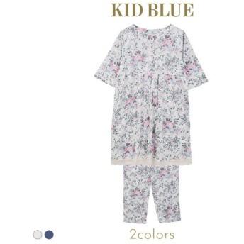 (キッドブルー)KID BLUE マタニティ フォギーガーデン ルームウェア パジャマ 上下セット 前開き 産前 産後 5分袖