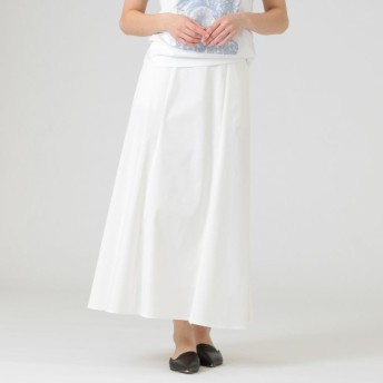 【マッキントッシュ ロンドン ウィメン(MACKINTOSH LONDON WOMEN)】 チノストレッチスカート ホワイト