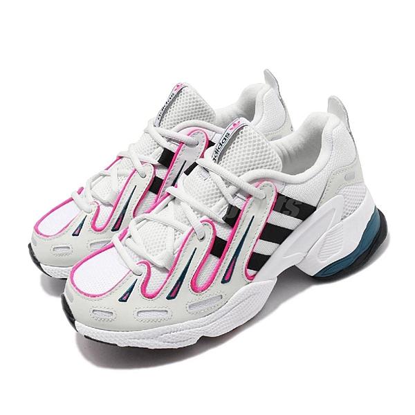 【五折特賣】adidas 老爹鞋 EQT Gazelle W 白 黑 桃紅 增高 女鞋 運動鞋 【ACS】 EE6486