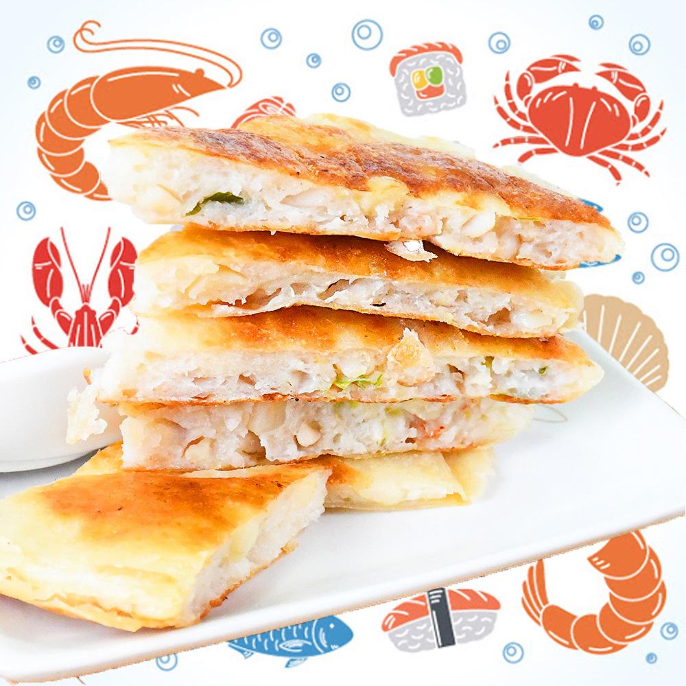 【好神】厚實花枝月亮蝦餅6片組-160g/片