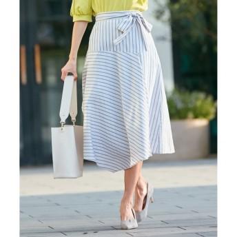 【クミキョク/組曲】 【洗える】MANTECOカラーストライプ スカート