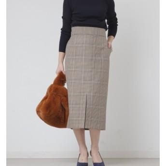 【リエス/Liesse】 バレンシアチェックハイウエストタイトスカート