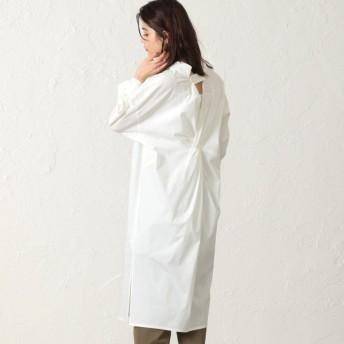 【キャスト(CAST:)】 バックポイントシャツワンピース ホワイト