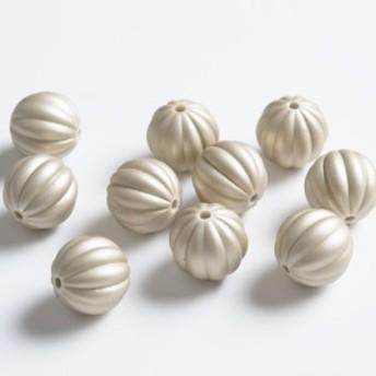 かぼちゃ型 ビーズ シャンパンゴールド 16.5mm 10粒 ネックレス ブレスレット パーツ ハンドメイド 材料 アクセサリーパーツ