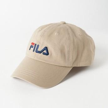 フィラ キャップ FILA LINEAR LOGO LOW CAP 185713520 93 帽子 : ベージュ FILA