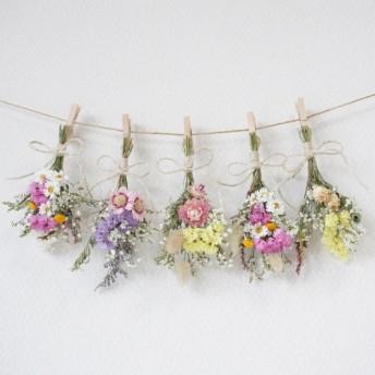 色とりどりお花でドライフラワーガーランド