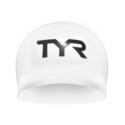 美國TYR 成人競技用3D矽膠泳帽 Blade Racing Cap White