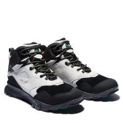 Timberland 男款黑白拼接Garrison Trail麂皮絨休閒靴A23ET032