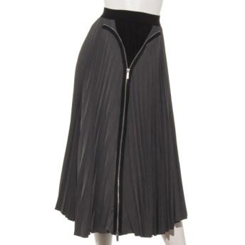 28%OFF L.A.GLITTER (エルエイグリッター) ファスナー使いスカート グレー
