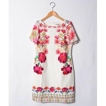 (Desigual/デシグアル)ドレスショート袖/レディース ホワイト系