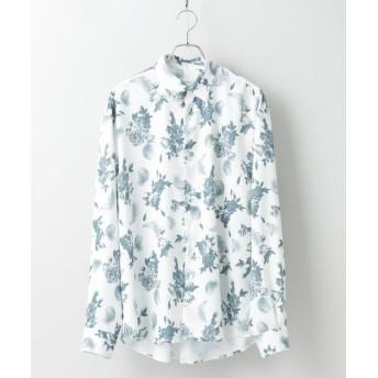 tk. TAKEO KIKUCHI/ティーケー タケオキクチ フラワーフェザーオーバーサイズシャツ ホワイト(401) 01(S)