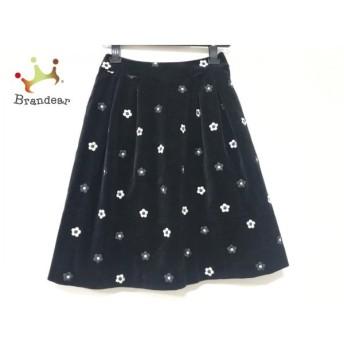 エムズグレイシー M'S GRACY スカート サイズ38 M レディース 美品 黒×白 刺繍 新着 20200315