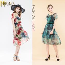 MONS時尚精品訂製款100%蠶絲洋裝