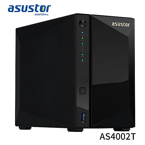 ASUSTOR 華芸 AS4002T 2Bay NAS 網路 儲存 伺服器
