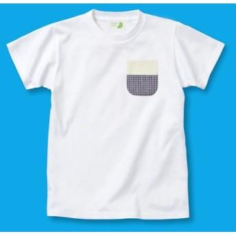 Tシャツ+パッチワークポケット レディースフリーサイズ