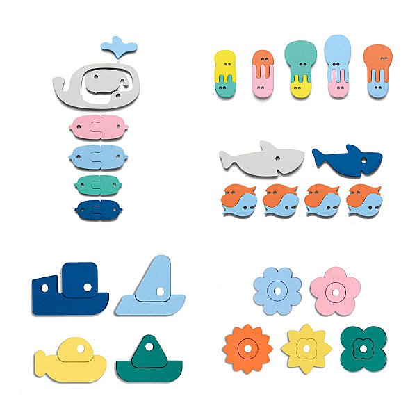 比利時 Quut 浴室拼貼玩具 洗澡玩具(5款可選)