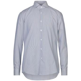 《セール開催中》BOSS HUGO BOSS メンズ シャツ ダークブルー 41 コットン 100%
