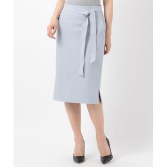 ICB/アイシービー 【洗えるセットアップ】Fied サイドスリットスカート サックスブルー系 0