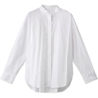 HELIOPOLE エリオポール スタンドカラーシャツ ホワイト