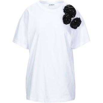 《セール開催中》AINEA レディース T シャツ ホワイト 42 コットン 100%