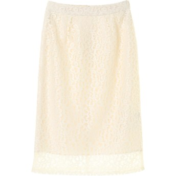 【6,000円(税込)以上のお買物で全国送料無料。】・レースタイトスカート