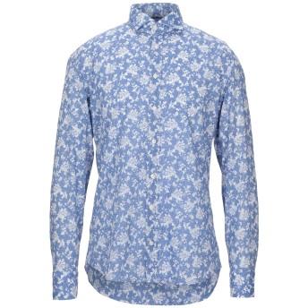 《セール開催中》MARIANO Napoli メンズ シャツ パステルブルー 41 コットン 100%