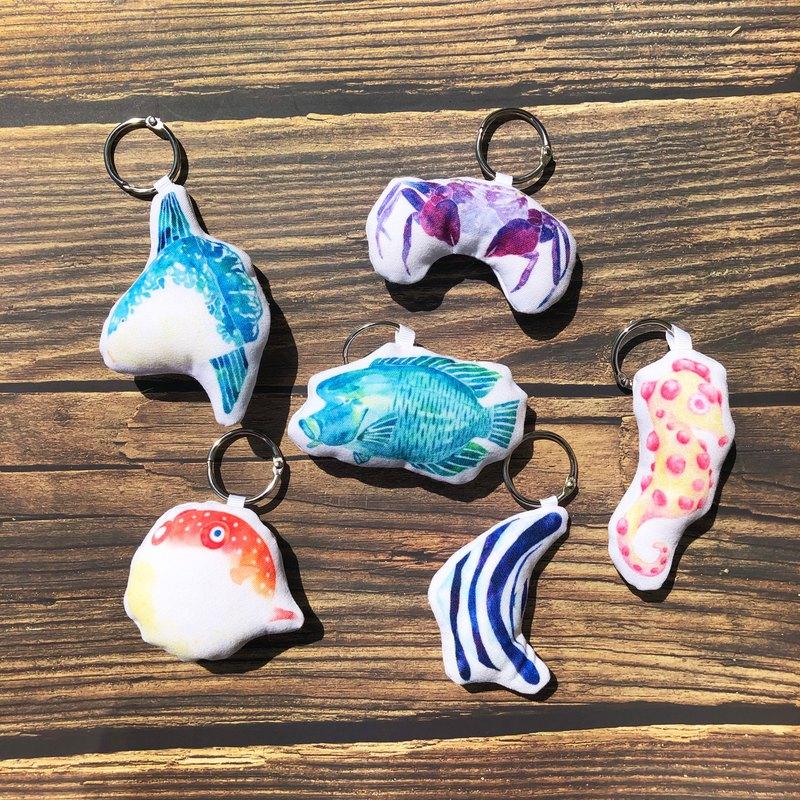 其他魚魚-吊飾小娃娃鑰匙圈