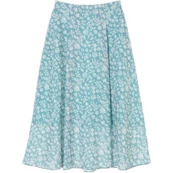 【6,000円(税込)以上のお買物で全国送料無料。】更紗柄ナロースカート