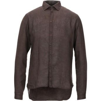 《セール開催中》ALEX DORIANI メンズ シャツ ダークブラウン S リネン 100%