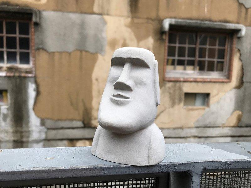 水泥摩艾 Moai-厚道摩艾 Q版摩艾 創意設計 文創手作 療癒小物
