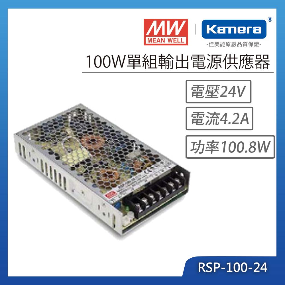 MW明緯 100W單組輸出電源供應器(RSP-100-24)