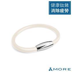 &MORE愛迪莫健康鍺鈦手環/腳環ZpowerII(6mm)-米色