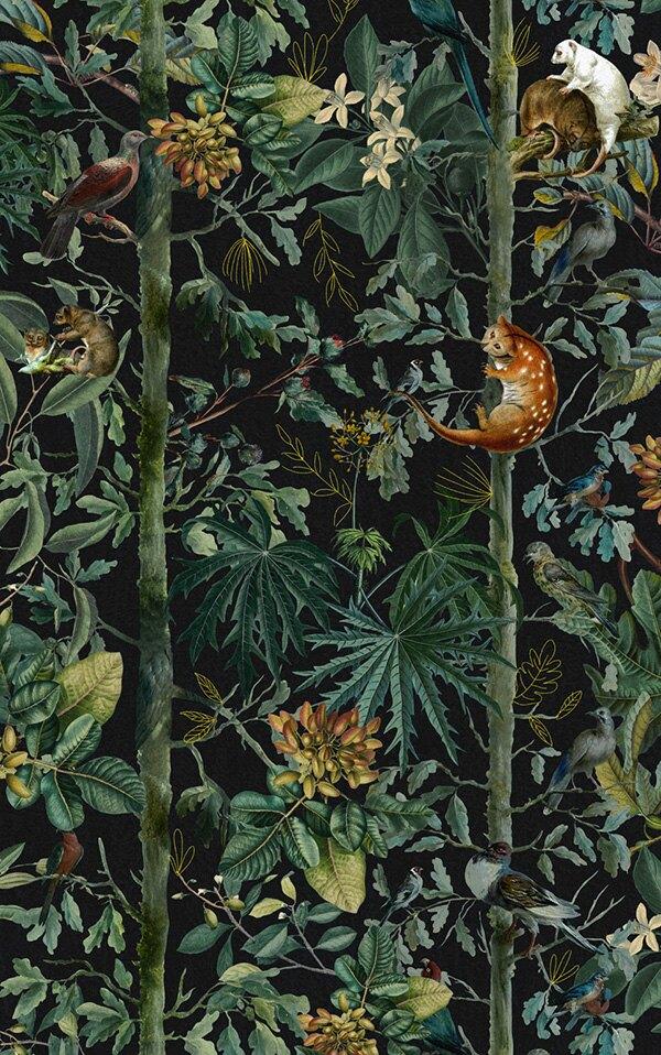 動物紋 南國風 綠色植物  2色可選  Mind the Gap壁紙