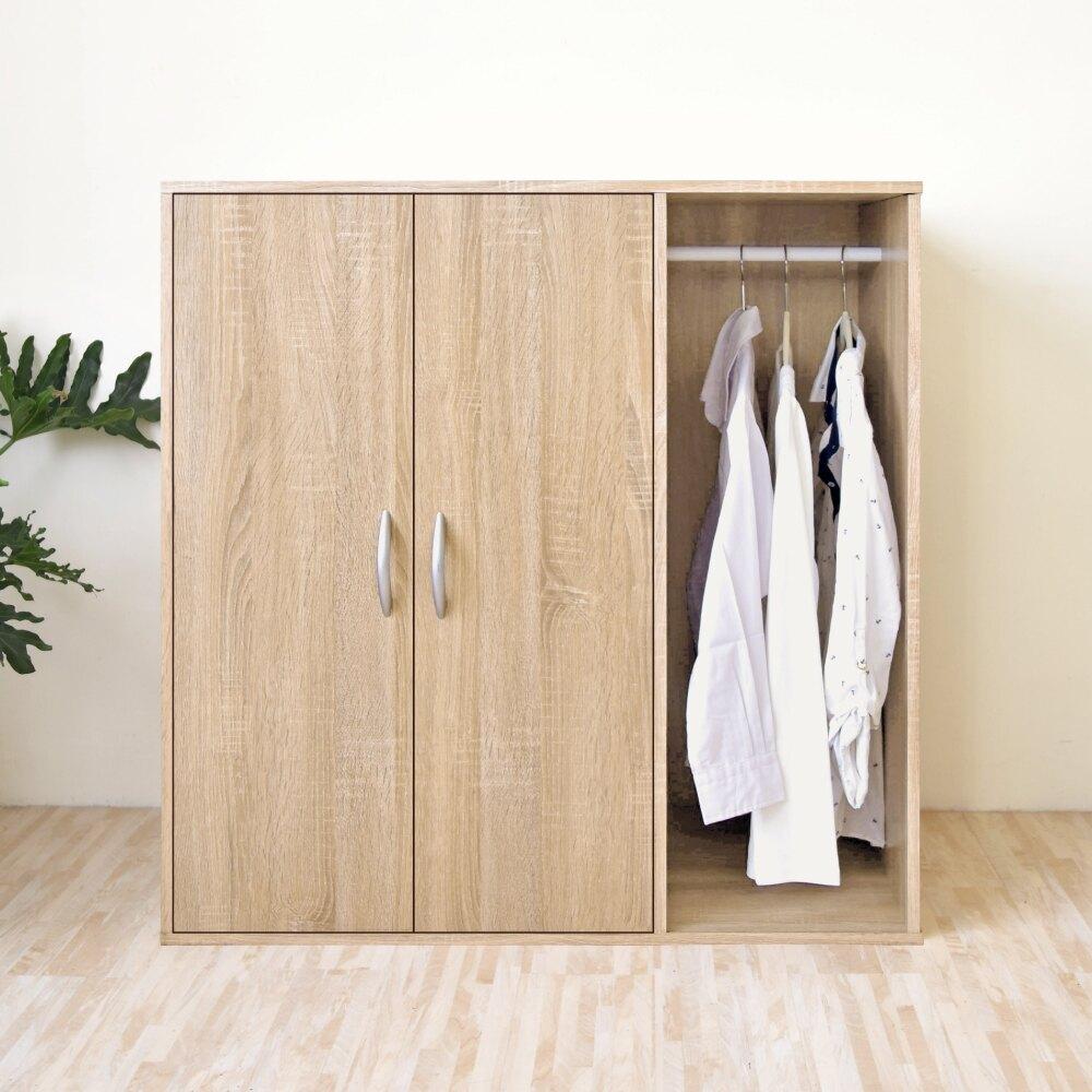 《HOPMA》DIY/家具/收納/居家/衣櫃/衣櫥 二門一格組合式衣櫃 A-201
