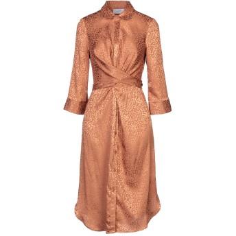 《セール開催中》SOALLURE レディース ミニワンピース&ドレス 赤茶色 40 ポリエステル 96% / ポリウレタン 4%